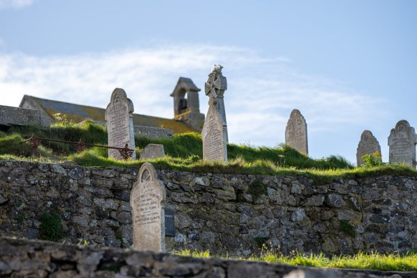 丘の上のお墓
