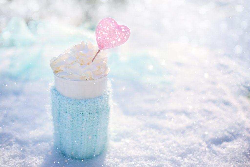 雪とカフェ