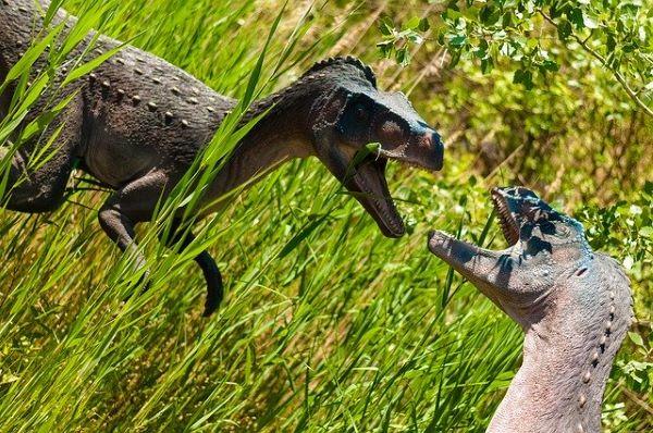 2匹の恐竜