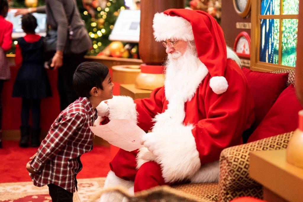 サンタと男の子