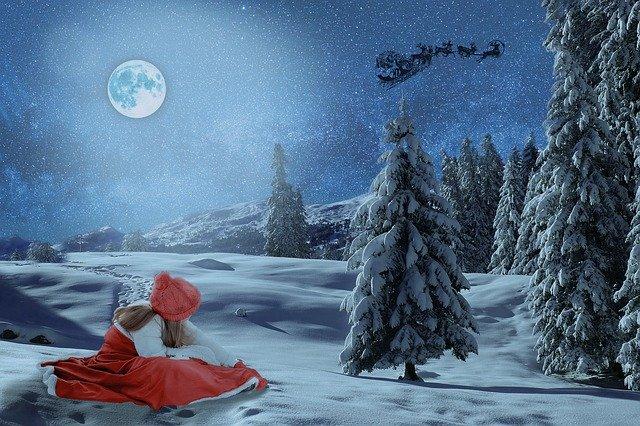 女の子と月ノクリスマス