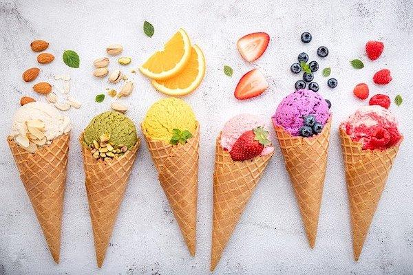 アイスクリーム6種